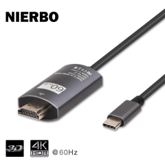 USB C to HDMI Cable 3D 4K * 2K @ 60Hz, USB 3.1 Type C to HDMI Cable(Thunderbolt 3 Compatible) for 2017/2016 MacBook Pro, DELL Book, Galaxy Note 8/S8/S