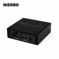 Hdmi Splitter NIERBO 1x2 Powered 4K hdmi Splitter Dual Monitor 1 in 2 out HDMI Splitter 4Kx2K@30HZ Duplicating Video and Audio for Full Ultra HD 1080P
