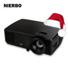 NIERBO HD970 1920x1080P Native Projector Theater Cinema 6000 Lumens 1080P Full HD Projector for Education Business School Church Daytime