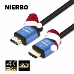 2m HDMI 2.0 cable, NIERBO HDMI 2.0 4K HDR 60Hz HDMI 2.0 CERTIFIED 18Gbps Speed Male to Male Copper Core Wire