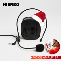 NIERBO Voice Amplifier Loudspeaker Waist Hanging Portable Booster Megaphone Microphone Amplifier for Teacher Guider Trainer Support SD Card