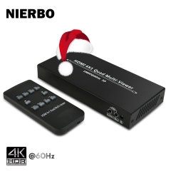 HDMI Swithcer 4X1, NIERBO HDMI Quad Multi-Viewer HDMI Switcher 1080p HDMI Splitter Seamless IR Control EU 3D Support 5 Modes for PS3/PC/STB/DVD