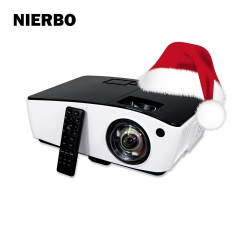 NIERBO UT300 Short Throw HD Projector HDMI 4000 ANSI Lumens Data Powerpoint Presentation Business Meeting Church Projector