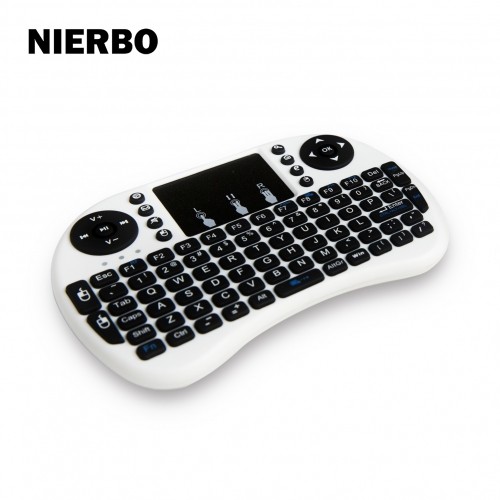 White Mini Wireless Keyboard Mouse Touchpad for Computer Projector USB