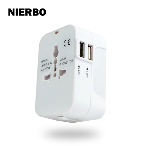 Overseas socket conversion plug 2 USB port travel charger A·O·BF·C type power plug for iPhone Android
