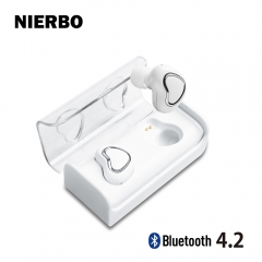 NIERBO Bluetooth Earphone Complete Wireless Both Ears Support iPhone Android