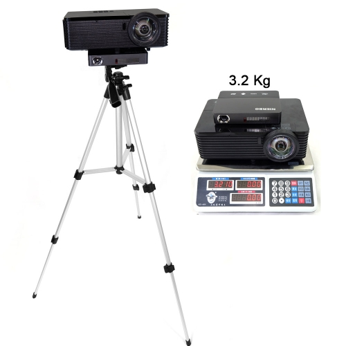 NIERBO 3330 Telescopic Tripod Portable Professional Tripod for Mini Projector Camera Smartphone with Phone Holder