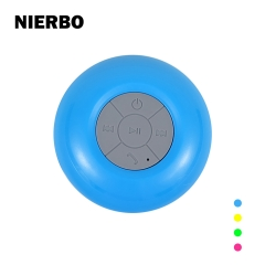NIERBO Wireless Bluetooth 4.0 Waterproof Outdoor & Shower Speaker Suction Cup Mic Phone Calls Hands-Free Speakers