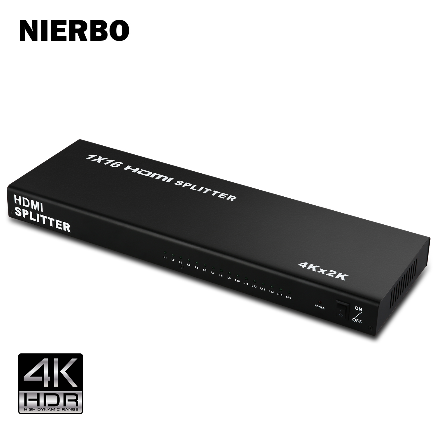 NIERBO HDMI Splitter 1x16 4K Duplicator 1 Input 16 Output Switch 1080p Full  HD 3D for PS4 PS3 XboX Chromecast DVD Blu-Ray Decoder Satellite Receiver