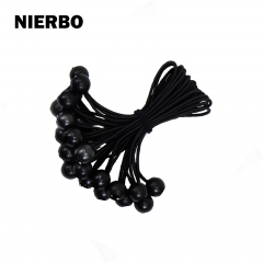 NIERBO Ball Bungee Cords, Quality 8.8inch Tarp & Canopy Shock Cords Black UV Treated Cord 22 PCS