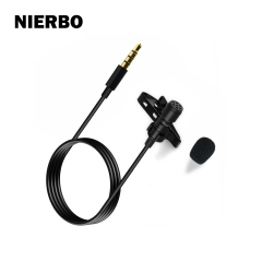 NIERBO lapel microphone for Youtube, business, meeting suitable for IPhone/IPad/Android/PC music recording, recording, interview and chat