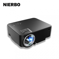 NIERBO AE10 LCD Cheap projector full hd Mini Portable LED Video Projector for laptop support 1920*1080p Multimedia for home Cinema Movie