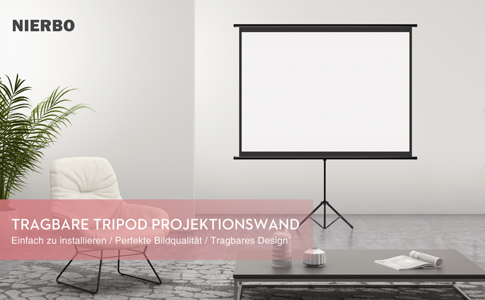 Mobile Tripod Projector Screen