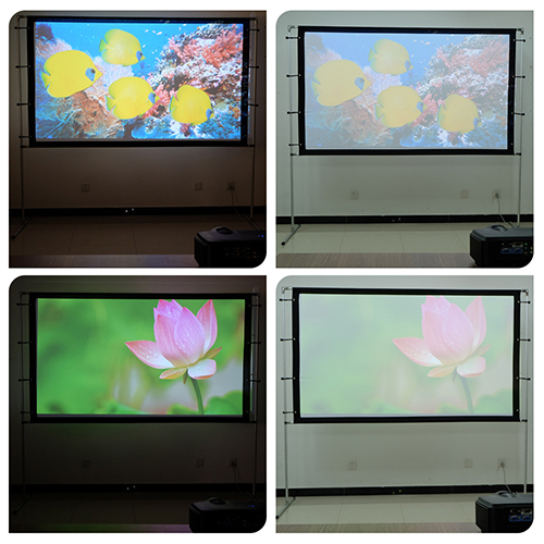 projection show on protable projector screen