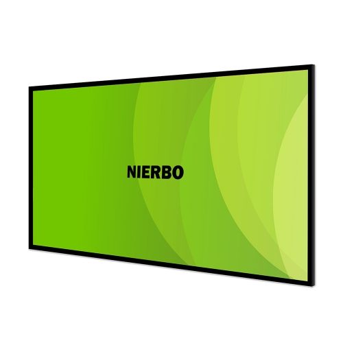 Nierbo Sable Frame Projector Screen 16:9, 3D 4K Ultra HD Fixed Frame Home Theater Projection Screen with Kit,PVC