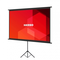 Mobile Tripod Screen, NIERBO Tripod Screen Mobile 60 Inch Projector Screen 122 x 91 cm 4:3 Screen Set-up / Dismantling in Just a Few Minutes
