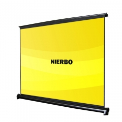 NIERBO Table Screen 40 Inches 50 Inches Desk Projector Screen 3D Full HD Portable Screen 4:3 Desk Projection Office Movie Beamer Theater