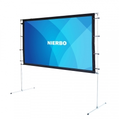 NIERBO Portable Projection Screen 100 120 Inch with Frame Tripod Projector Screen Free Carry Bag Matte White Screen 3D HD 4K