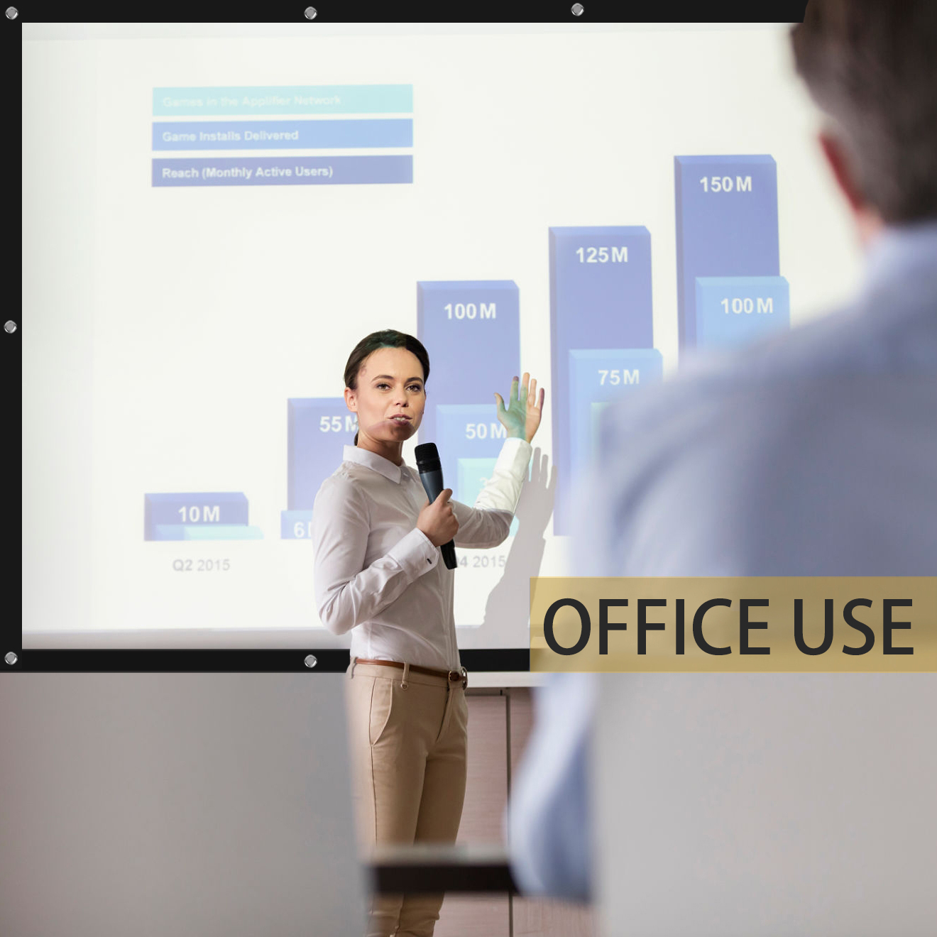 projector screen for office use
