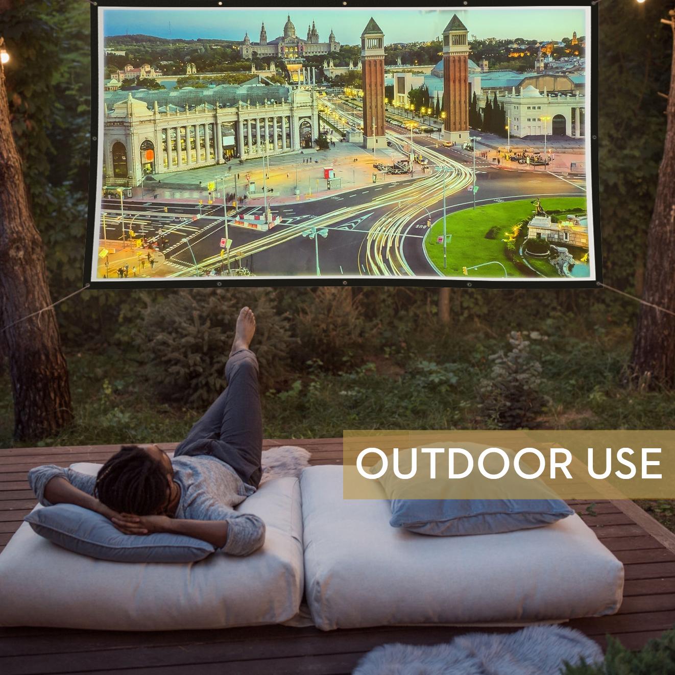 Portable Projection Screen for outdoor