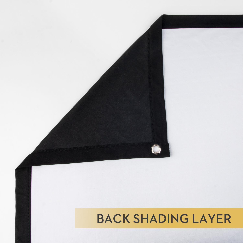 black back projector screen