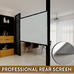 NIERBO Basic Series Rear Projector Screen 60-300 Inches Projection Movie Screen PVC Material Gain 2.1 for Indoor and Outdoor Use