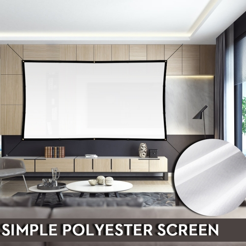 Portable Projector Screen Indoor Outdoor Lightweight Folding Movies Wrinkle Free 100 120 Inch HD Simple Screen 3D Rear Front