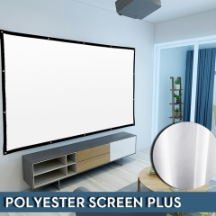NIERBO Basic Series Wrinkle Free Projector Screen 100-120 Inches Projection Movies Screen Polyester Material Gain 1.3 for Indoor and Outdoor Use