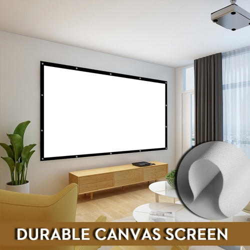 NIERBO Portable Projector Screen 100-300 Inches White Canvas Fabric DIY HD No Crease Movie Screen for Indoor Outdoor Movie Games/ Camping/ Hiking