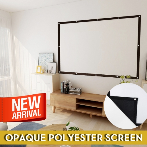 "Projector Screen ""Latest version without light transmittance"" 100 inches Size 16: 9 Carrying screen Wall-mounted foldable Portable Outdoor Movie Screen No wrinkles Washable Portable 4K Home theater Projection Conference Classroom"
