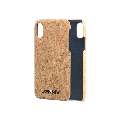 JENMV Phone Case Compatible with iPhone7/8  - Protective Cork Cover  - Light Brown