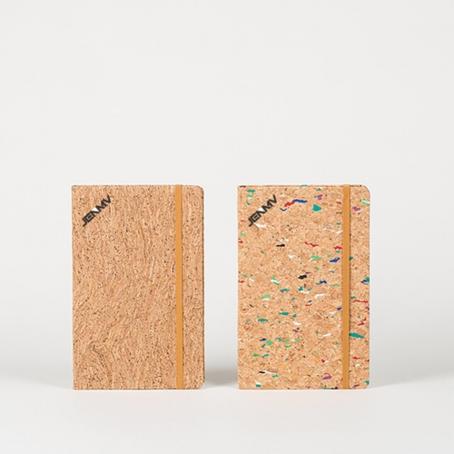 JENMV Travel Bullet Journal Writing Notebook Eco-Friendly Natural Cork Hardcover Diary Planner Ruled Notebook